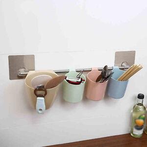 k chenregal aufbewahrung organizer saugn pfe wand ablage. Black Bedroom Furniture Sets. Home Design Ideas
