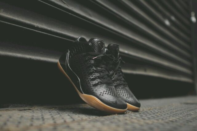 more photos 6c1a7 f90fa Nike Kobe IX 9 Mid EXT QS 704286-001 Black Snakeskin Gum Mamba Size 13.5