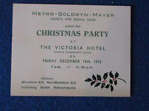 Metro-Goldwyn-Meyer-MGM-Christmas-Party-Ticket-19-12-1952
