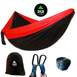 Camping-Hammock-Lightweight-Double-Travel-Outdoor-Parachute-Tent-Two-2-Person