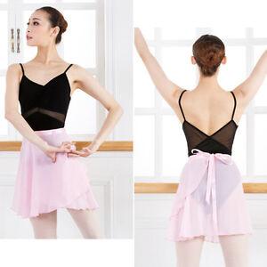 Women-Kids-Chiffon-Ballet-Wrap-over-Scarf-Skirt-Dance-Leotard-Tutu-Dress-Pro