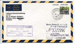 Ffc 1966 Lufthansa Primo Volo Lh 737 - Dar El Salaam Entebbe Khartum Francoforte 100% D'Origine