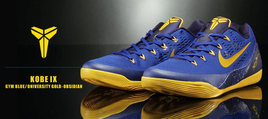 Nike Kobe 9 IX em low size 15. Yellow gold bluee. 646701-474.