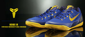 4d1fe96d120 Nike Kobe 9 IX em low size 15. Yellow Gold Blue. 646701-474.