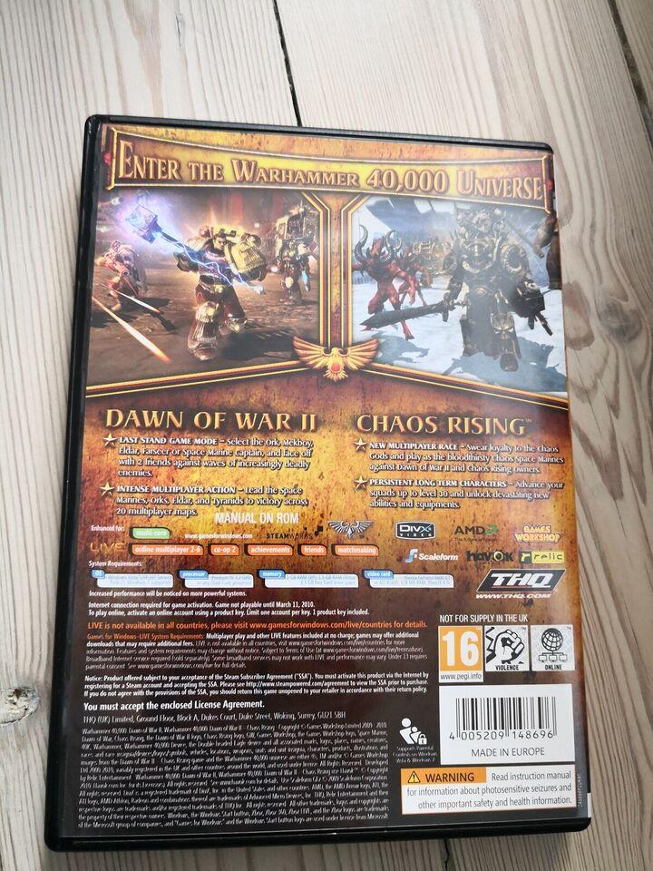 Warhammer 40.000 dawn of War - Gold edition, strategi