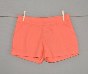 COLUMBIA-40-Coral-Casual-Cotton-Chino-Shorts-Size-2
