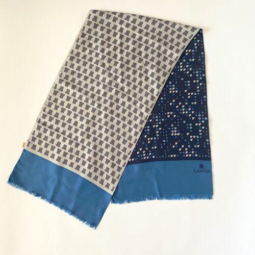 Vintage 70s Lanvin Geometric Silk Scarf - image 1