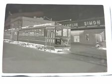 "Orig 1949 Newark Central Av New Jersey PSNJ 3.5"" trolley photo negative"