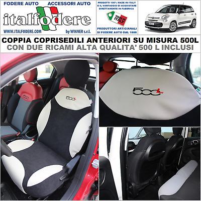 NERO effetto 3d Coprisedili per FIAT 500l AUTO COPRISEDILE COMPLETO