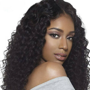 c8b1a24eb Curly Lace Front Human Hair Wig Brazilian Remy Lace Wigs For African ...
