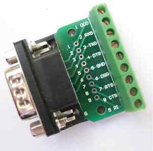 DB9-D-SUB-Male-Adapter-Platte-9-Pin-Klemme-Breakout-Board-UART-RS232-KF396232