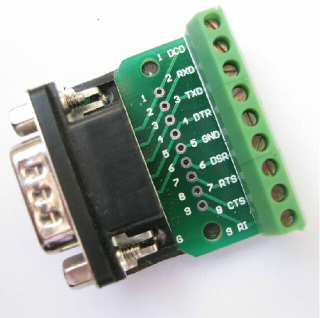 DB9 D SUB Male Adapter Platte 9 Pin Klemme Breakout Board UART RS232 KF396232 Ho