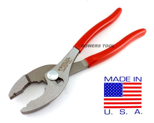 """Wilde Tool 8"""" Slip Joint Hose Clamp Pliers MADE IN USA Notch Plier Corbin Style"""