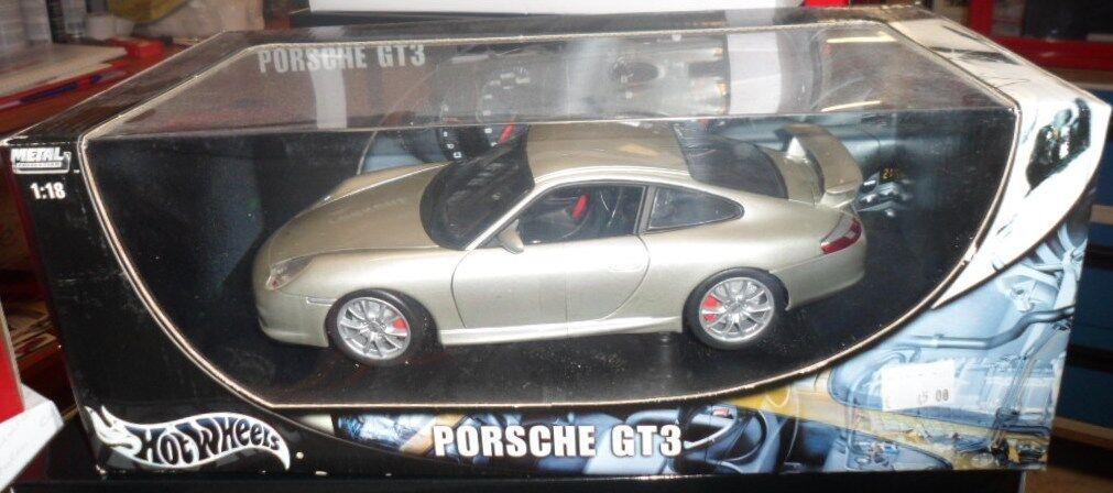 HW10026 by HOT WHEELS PORSCHE 911 GT3    METAL grigio 1 18 d73419