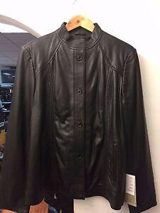 Ladies Casual Fashion Leather Black Jacket  STYLE 4205