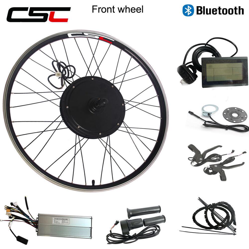 Ebike Front Wheel Motor Kit 20 26 48V 500W 1000W 1500W Regeneration blueetooth