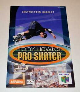 MANUAL ONLY Tony Hawk's Pro Skater Nintendo 64 N64 Instruction Booklet