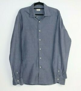Xacus Men's Dress Long Sleeve Polka Dot Shirt Size 16.5/42