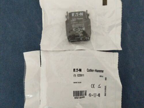 Eaton E22B11 CONTACT BLOCK, 1NO1NC, 10A New
