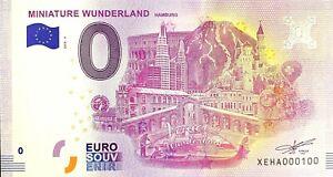 BILLET-0-EURO-MINIATUR-E-WUNDERLAND-Faute-ALLEMAGNE-2018-NUMERO-100