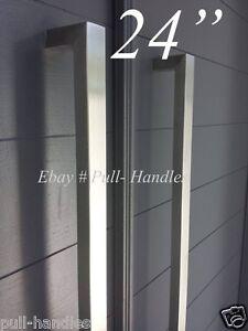 24 door hardware pull handles bar pulls entry store front - Interior door handles brushed nickel ...
