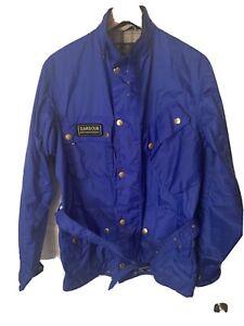 Barbour-International-Men-s-jacket-large-Blue-100-Real