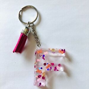 letter F Acrylic keychain