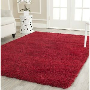 Image Is Loading Safavieh Loomed Red Plush Area Rugs
