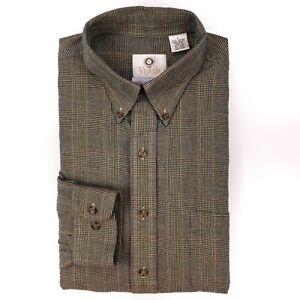 Viyella-Shirt-Large-Multicolor-Glen-Plaid-Check-Cotton-Wool-Blend-Button-Front