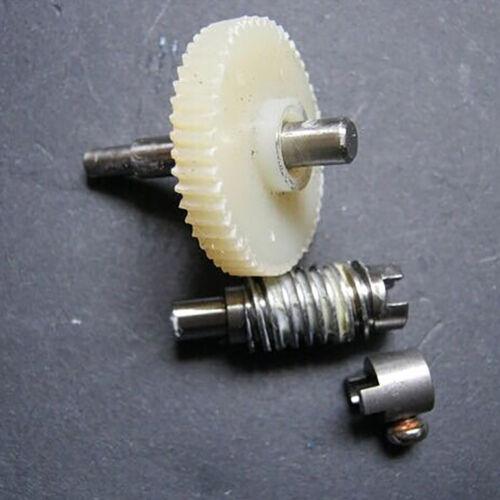 Metal Worm Wheel  Plastic Gear Reducer Reduction Gearset for DIY Accessories KI