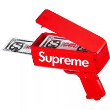 Brand New Supreme SS17 Red Box Logo Cash Cannon Money Gun 100% Authentic