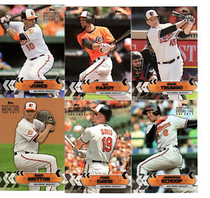 Details About Baltimore Orioles 2017 Topps National Baseball Card Day Singles Choose From List