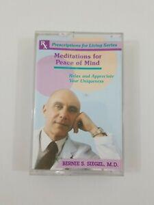 Meditations For Peace of Mind Bernie S Seigel MD Cassette