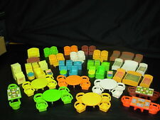 LARGE LOT of Vintage Fisher Price Little People FURNITURE / ACCESSORIES  80pcs.