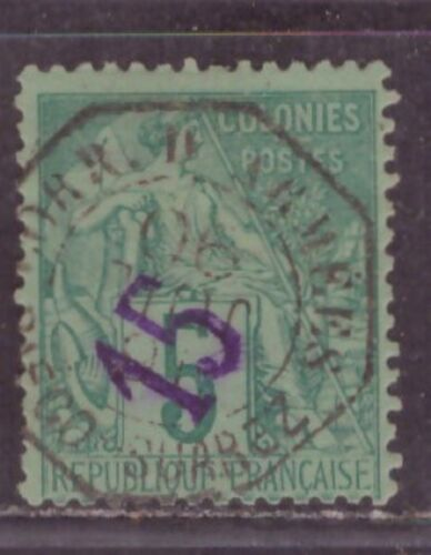 1890 French colony stamps, Diego Suarez Madagascar, 15c on 5c octagon cancelled,