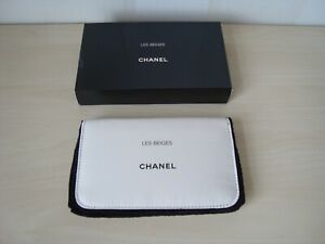 Chanel-beige-makeup-bag-with-mirror-fur-lining-VIP-gift