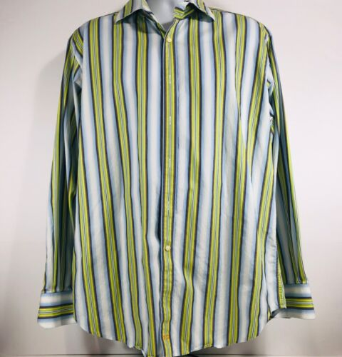 Thomas Dean Baby Blue Yellow Green Long Sleeve But