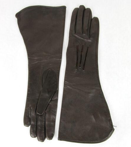 NEW Authentic Bottega Venega Womens Long Leather Gloves Brown 299241 2006
