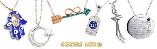 Zülfikar Kette Silber 925 hz Ali Schwert OSMANLI 1453 Ayyildiz TÜRKIYE IYI sk26