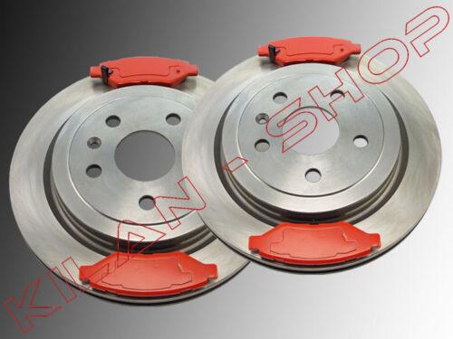 2 Bremsscheiben /& Satz Bremsklötze hinten Cadillac SRX 2010-2014