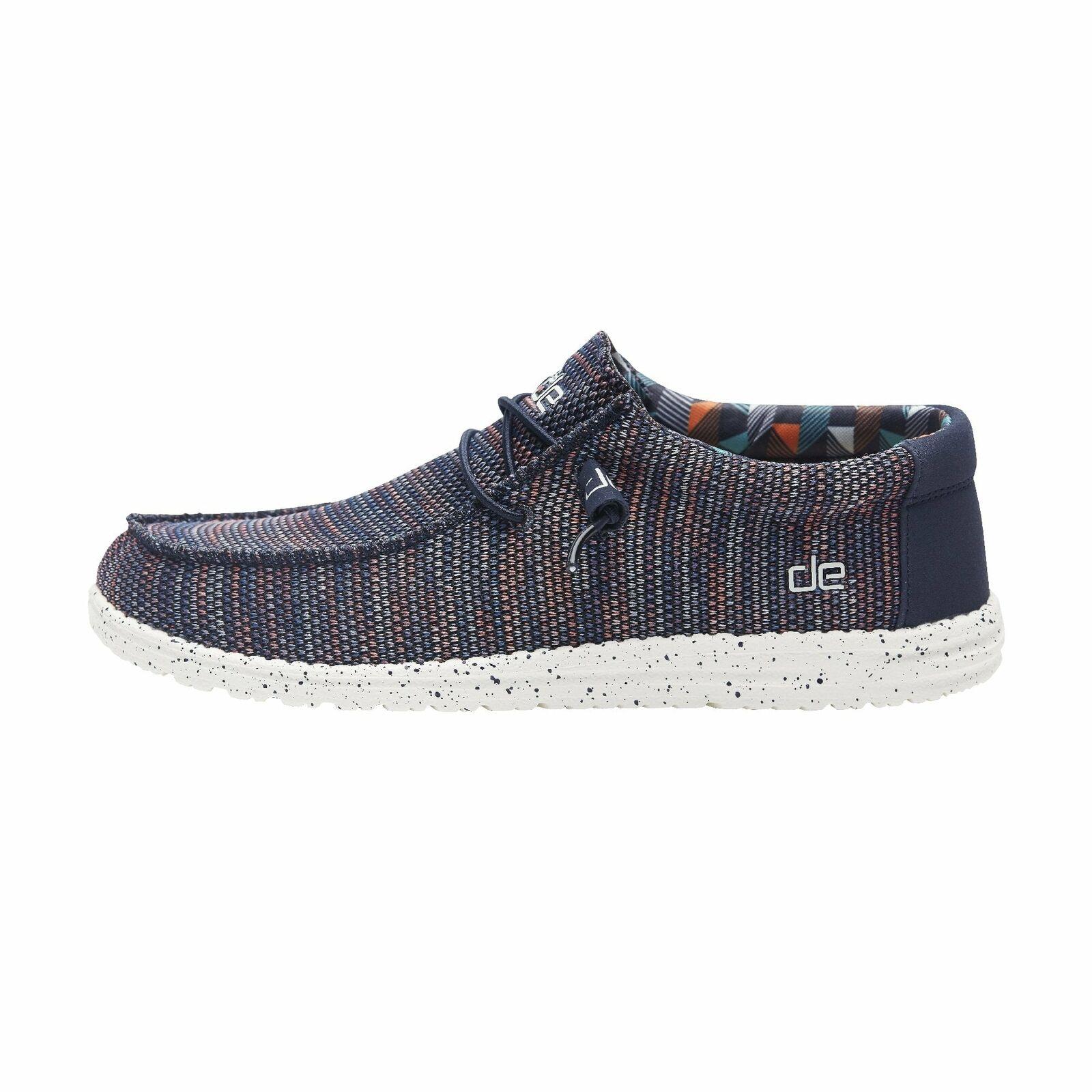 Hey Dude shoes Men's Wally Sox bluee orange Slip Slip Slip on Loafer dcba83