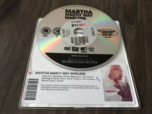 Martha Marcy May Marlene (DVD, 2012) DISK ONLY