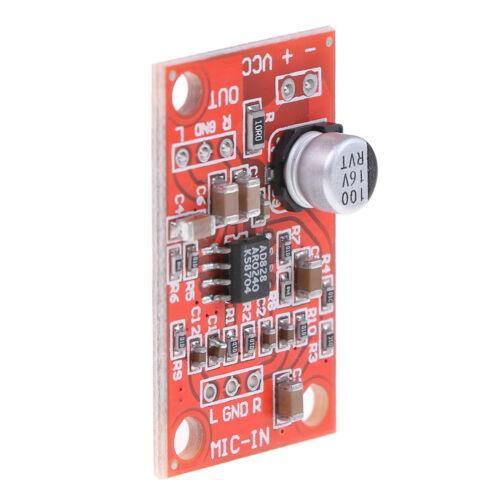 AD828 stereo dynamic microphone preamplifier board mic preamp DC 3.7V-15V 12WQ