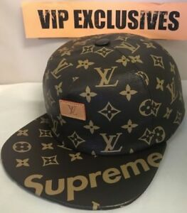 Image is loading Louis-Vuitton-x-Supreme-5-Panel-Hat-MP1879 de86250618f3