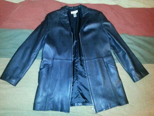 Black Veste à devant véritable femmes Alfani glissière cuir fermeture pour en 85v8r1q