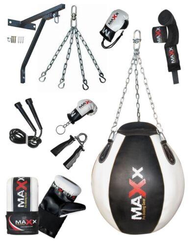 Maxx 3//4//5ft Filled Heavy Kick Punch Bag Chain KickBoxing Punchbag MMA Gloves