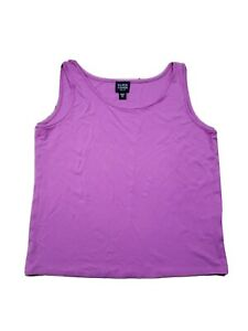 Eileen Fisher Women's Tank Top Petite Small 100% Silk Sleeveless Scoop Neck