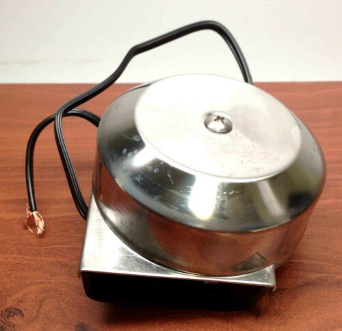 """MARINE BOAT STAINLESS STEEL COMPACT ELECTRIC HORN 12V DIAMETER 3/"""" DEPTH 2/"""""""