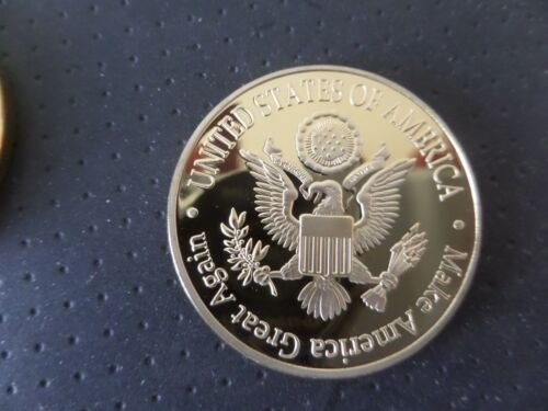 TRUMP PRESIDENT OF THE U.S.-COMMERATIVE 24KT PLATED COIN U.S SHIPPED DONALD J