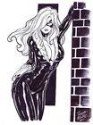 BLACK CAT 9 X 12 Commission Artist JOSEPH MACKIE